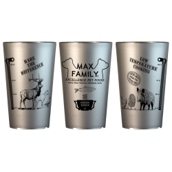 Gobelets doseur GRIS - MAX FAMILY Pet Food