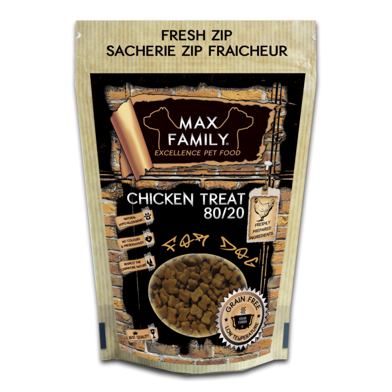 Chicken Treat GRAIN FREE 100g by MAX FAMILY Excellence Pet Food